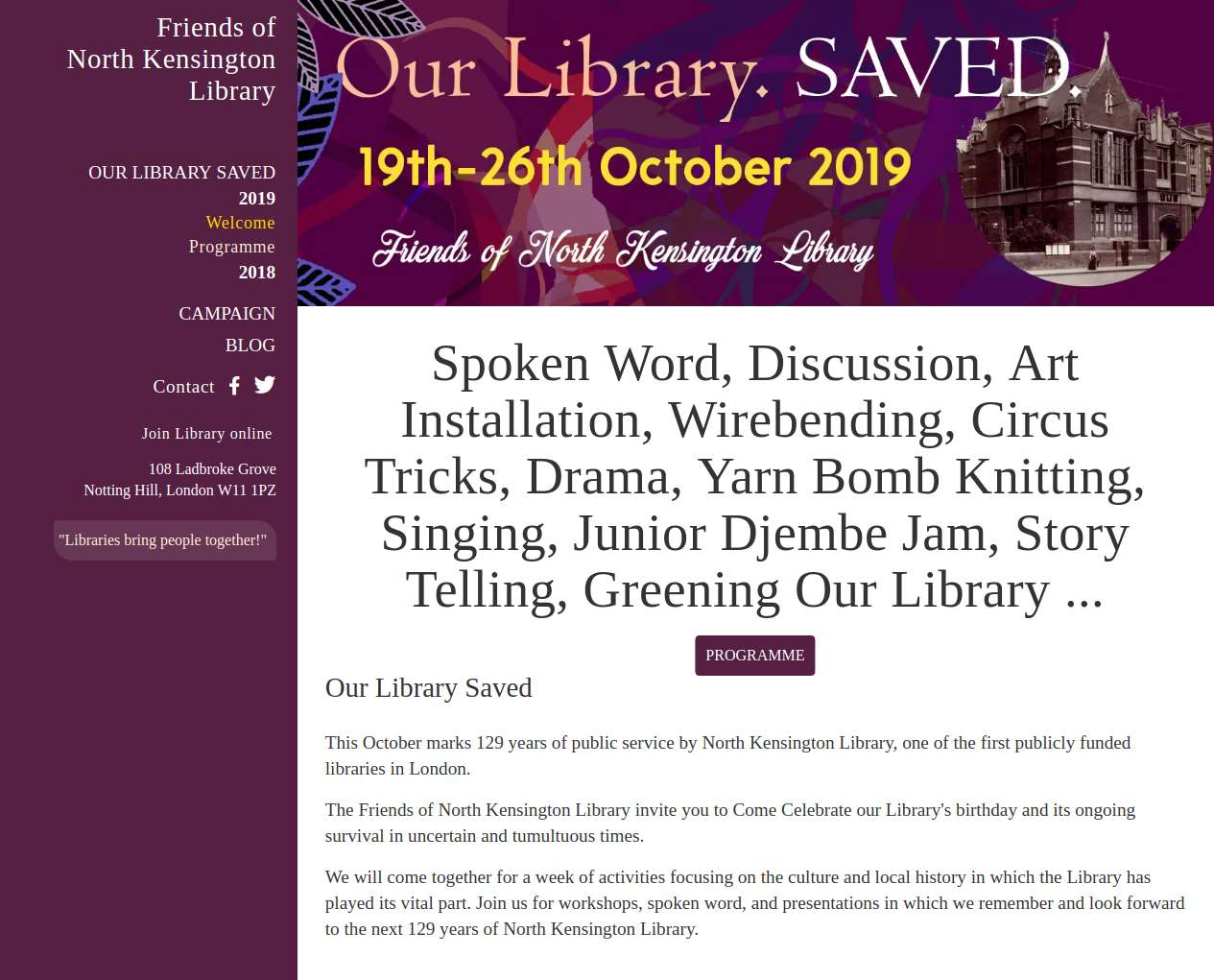 Friends of North Kensington Library
